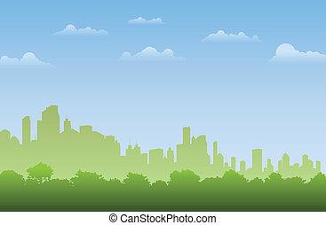 ville, forêt