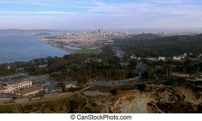 ville, francisco, aérien, san, usa, horizon, californie, vue