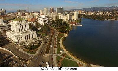 ville, francisco, merritt, san, lac, en ville, horizon, californie, oakland