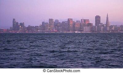 ville, francisco, san, océan pacifique, en ville, panoramique, horizon, californie