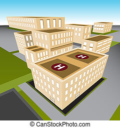 ville, hôpital