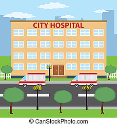 ville, hospital.
