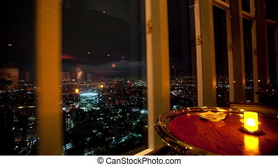 ville, mexique, restaurant, sommet, timelapse, commercer, tourner, centre, nuit, affichage mondial
