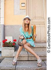 ville, modèle, mode
