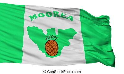ville, moorea, drapeau, isolé, polynésie française, maiao