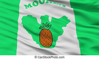 ville, moorea, drapeau, polynésie française, closeup, maiao