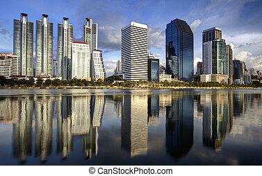 ville, parc ville, bangkok, eau