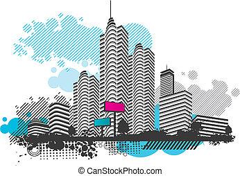 ville, paysage