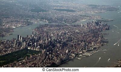 ville, prise vue aérienne, york, nouveau