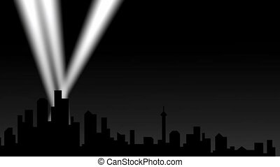 ville, projecteur