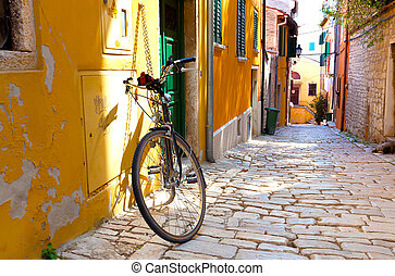 ville, rovinj, petit, rue, croatie