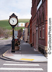 ville, rue état, usa est, principal, washington, waitsburg, petit