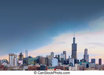 ville, usa, chicago, espace, gratuite, illinois