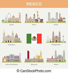 villes, mexique