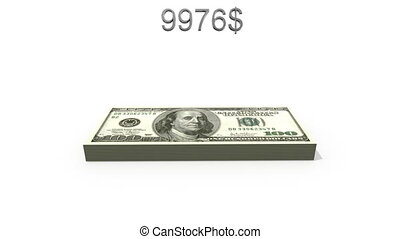 vingt dollars, trillion