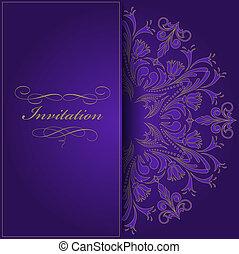 violet, invitation