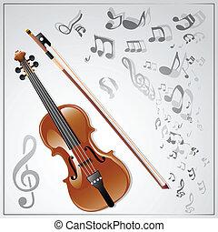 violin., musical, fond