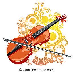 violon, résumé, modèle
