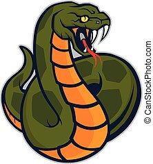 vipère, serpent, mascotte