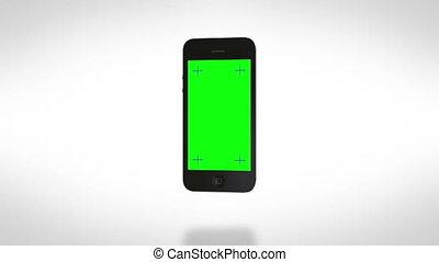 virages, blanc, smartphone, on., bg