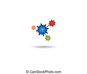 virus, icône, vecteur, illustration