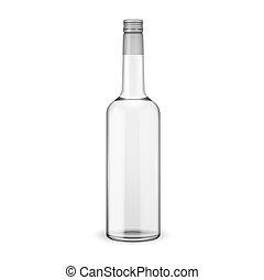 vis, vodka, cap., bouteille, verre