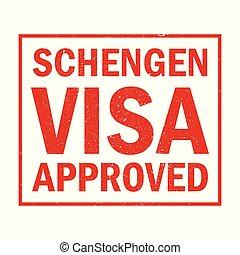 visa, approuvé, schengen
