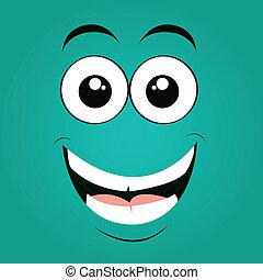 visage heureux