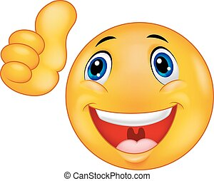 visage heureux, dessin animé, smiley, emoticon