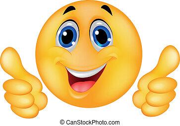 visage heureux, smiley, emoticon