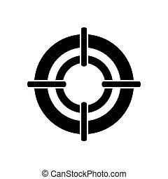 viseur, style, vecteur, armes feu, illustration