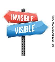 visible, invisible, panneaux signalisations