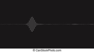 visualisation, 4k., son, channel., element., wave., alpha, graphique
