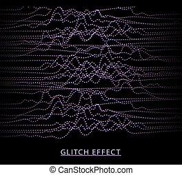 visualization., effect., son, données, particles., dynamique, vecteur, grande vague, glitch, waves., musique numérique