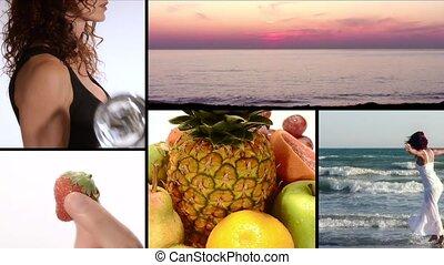 vitamines, fitness, joie, beauté