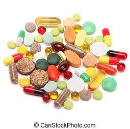 vitamines, tablettes, pilules