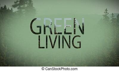 vivant, composite, vidéo, vert, numérique