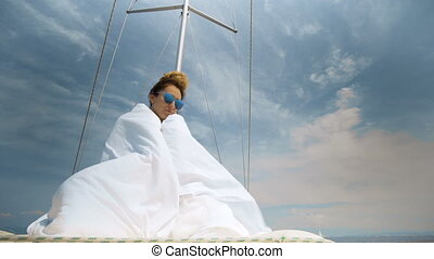 vivant, extérieur, style de vie, voile, sain, liberté, voyage, luxe, tourisme, bateau
