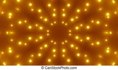 vj, kaléidoscopique, fractal, or, fond