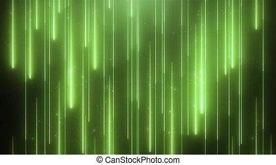 vj, néon, particules, animation, arrière-plan vert, brillant