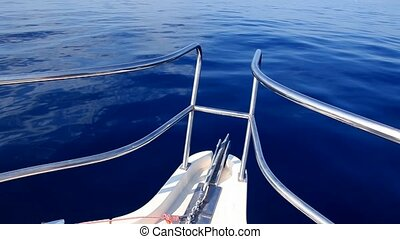 voile, bleu, mer, bateau, calme