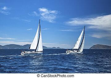 voile, luxe, sailing., regatta., bateau, yachts.