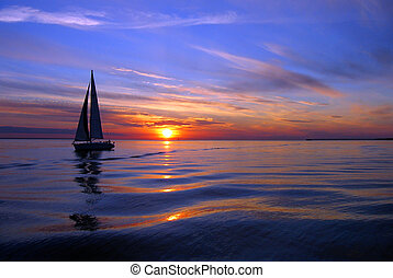 voile, mer, couleur
