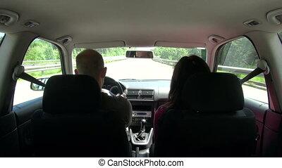 voiture, 30, intérieur, conduite