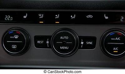 voiture, ajuste, température, homme