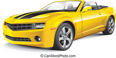 voiture, américain, muscle, cabriolet