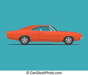voiture, américain, muscle, classique