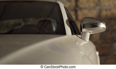voiture, blanc, coûteux, garage