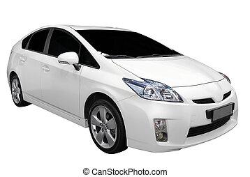 voiture, blanc, hybride