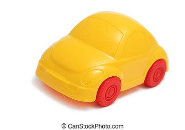 voiture, blanc, jouet, fond